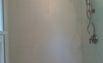 Contemporary Custom Shower by Professional Property Services